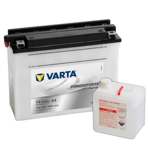 Bilde av  VARTA YB16AL-A2 MC Batteri 12V 16AH 180CCA (205x72x164mm) +høyr