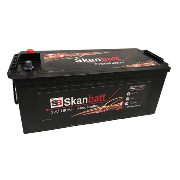 Bilde av SKANBATT Fritidsbatteri 12V 180AH 1000CCA (513x223x203/223mm) +v