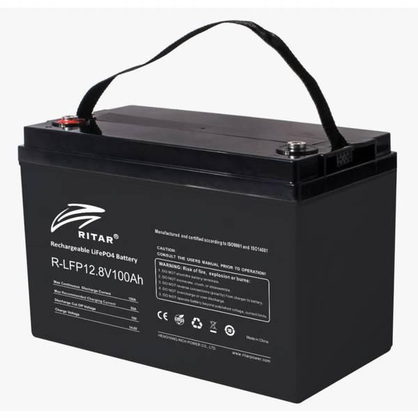 Bilde av RITAR Bluetooth Lithium Batteri 12V 100Ah (LiFePO4) BMS 100A