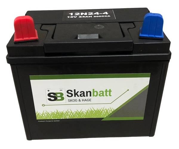Bilde av SKANBATT Plenklipper batteri 12V 24AH 200CCA (196x130x185mm) +ve