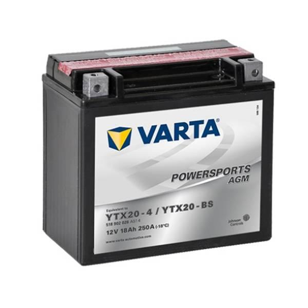 Bilde av  VARTA YTX20-BS AGM MC Batteri 12V 18AH 250CCA (177x88x156mm) +v