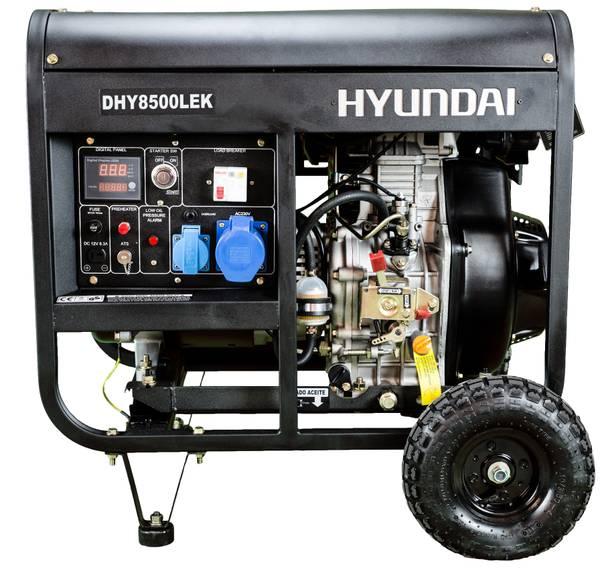 Bilde av HYUNDAI DHY8500LEK Strømaggregat 6500W - Elektrisk start - Diese